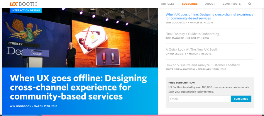 A recent article I wrote for UX Booth.